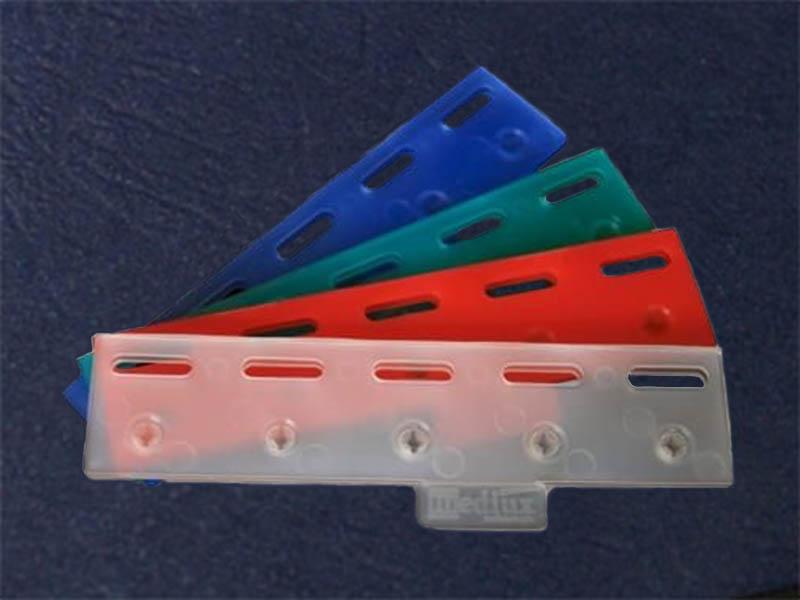 Kolorwe płytki easyclick do montazu kurtyn paskowych - zatrzaski pasów foliowych pcv