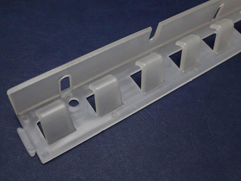 Zawiesie grzebieniowe z tworzywa PCV - easyline do montazu kurtyn paskowych