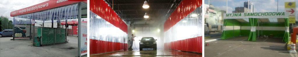 Myjnie samochodowe z kurtyn plandekowych. Plandeki foliowe dla myjni samochodowych