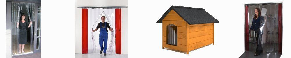 Kurtyny paskowe PCV moskitiera drzwi buda dla psa