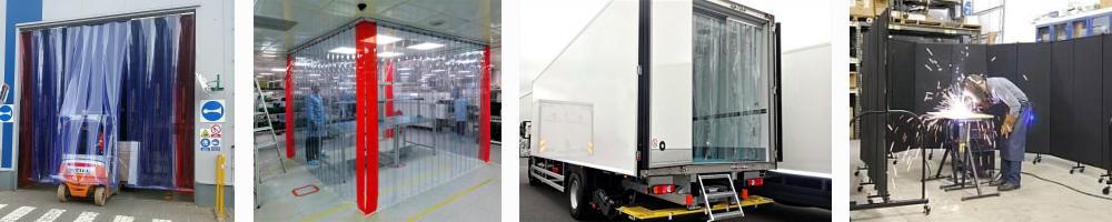 Kurtyny paskowe PCV dla przemysłu i transportu