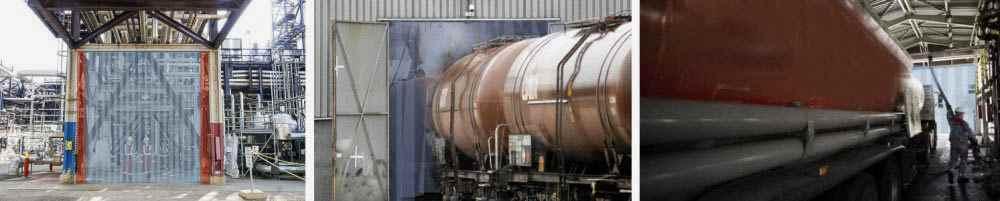 Kurtyna paskowa antystatyczna dla rafinerii i zakładów zbożowych