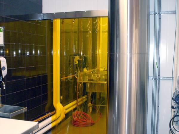 zasłona na drzwi z folii żółtej antyinsektowej