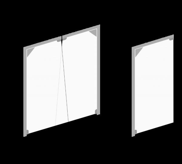 Maksymalne wymiary jakie mogą osiągac bramy wahadłowe