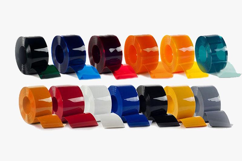 Dostepne kolory folii PCV do kurtyn przemysłowych