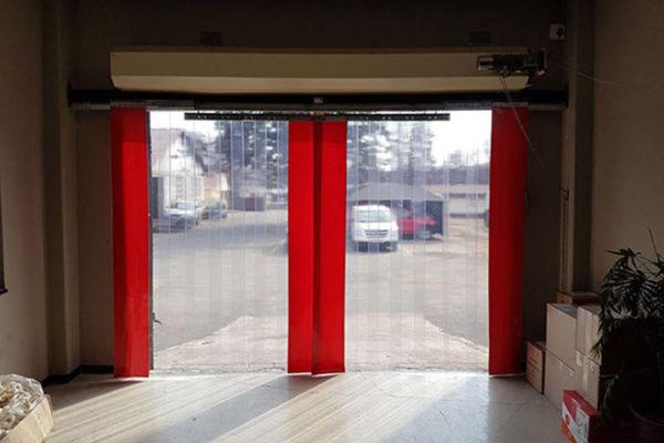 PAsy PCV czerwone nieprzezroczyste wyznaczające światło otworu