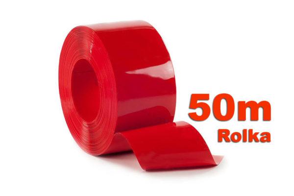 Pas PCV Nietrznsparentny czerwony w 50m rolkach