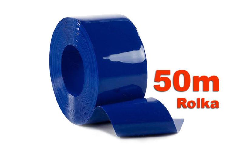 Pas PCV NIetransparentny Niebieski w rolkach o dlugości 50m