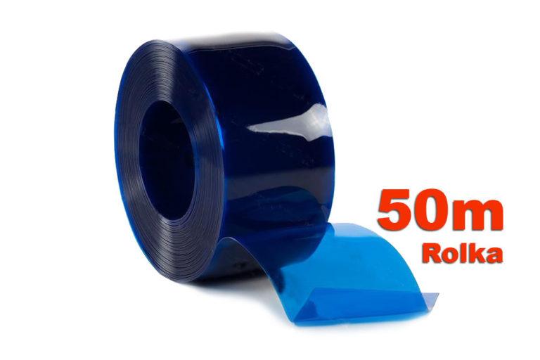 Pas PCV niebieski transparentny w rolkach po 50m