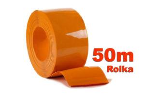 Pas PCV Nietransparentny Pomarańczowy w rolkach po 50m