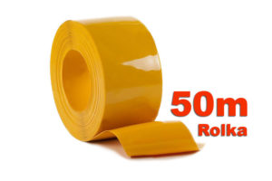 Pas PCV nietransparentny żółty w rolkach po 50m