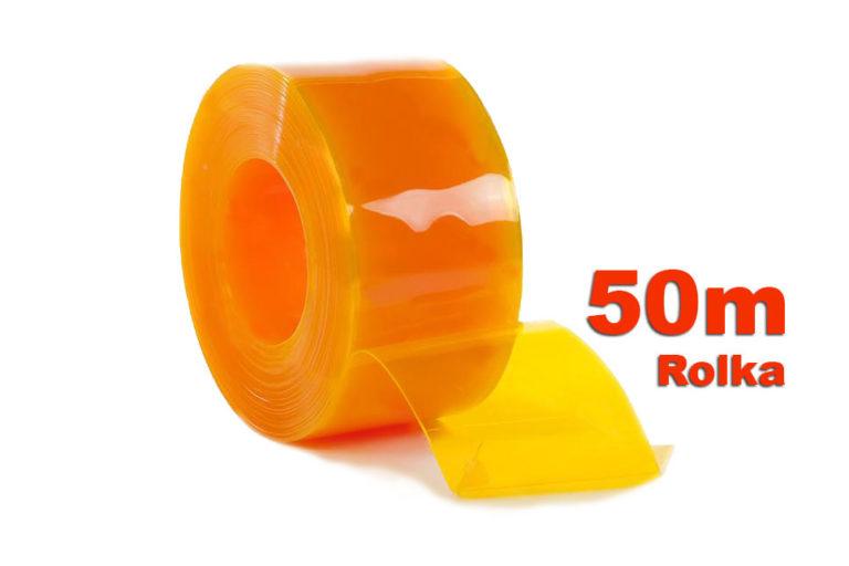 PAs PCV żółty transparentny w 50m rolkach