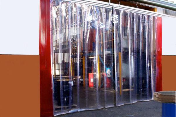 kurtyna-magazynowa-z-transparentnej folii PCV 400x4 mm