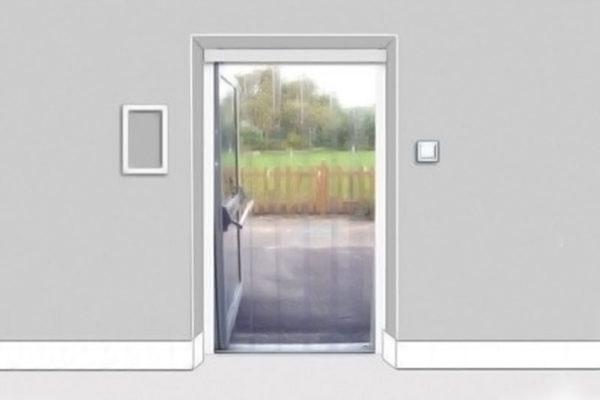Kurtyna na drzwi tarasowe lub balkonowe