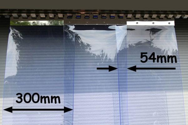 Kurtyna paskowa z pasów folii 300x3mm z zakładem 54mm