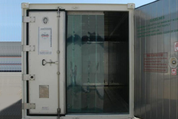 kurtyna do mobilnej komory chłodniczej lub mroźniczej
