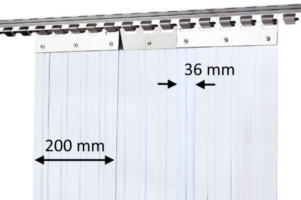 Kurtyna żebrowana 200x296)mm z zakładem 36mm