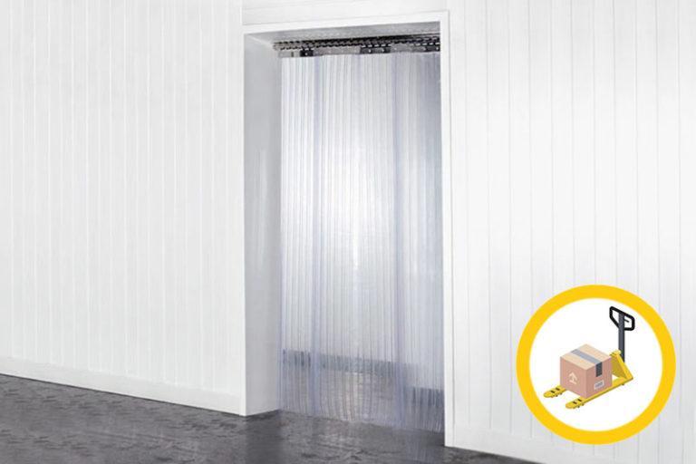Kurtyna paskowa, żebrowana na drzwi z folii 200x2(6)mm