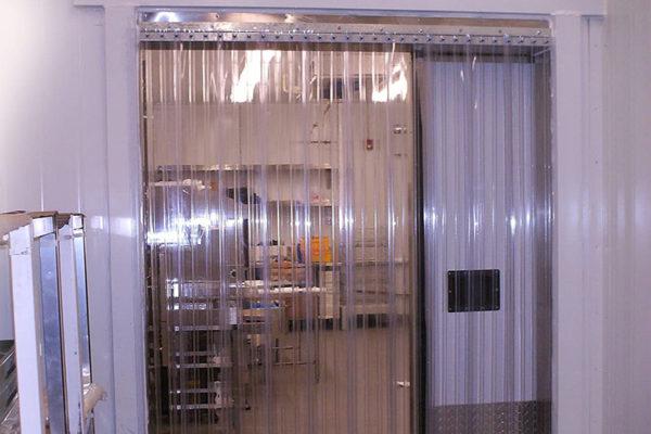 Kurtyna żebrowana na drzwi z folii wzmacnianej obustronnie 200x6mm