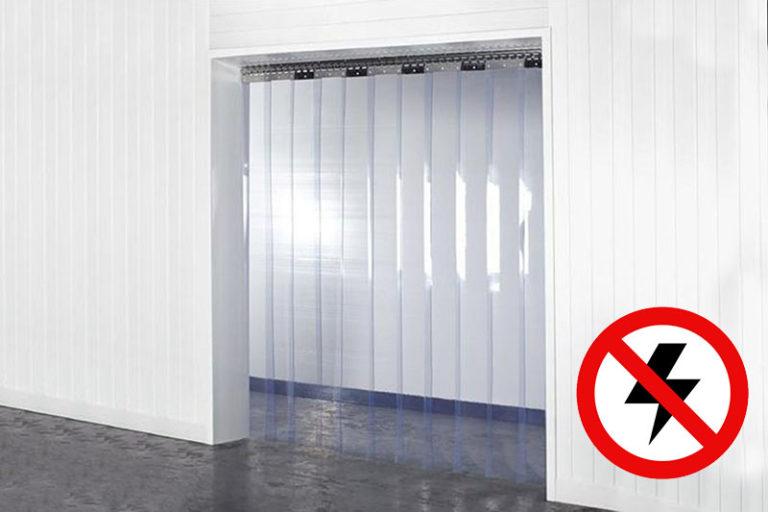 Kurtyna antystatyczna na drzwi z pasów 200x2mm