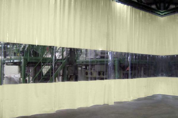 Kurtyna plandekowa z przezroczystym oknem od 100 cm