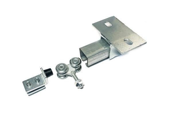 System przesuwny - stoper, wózek i szyna prowadząca