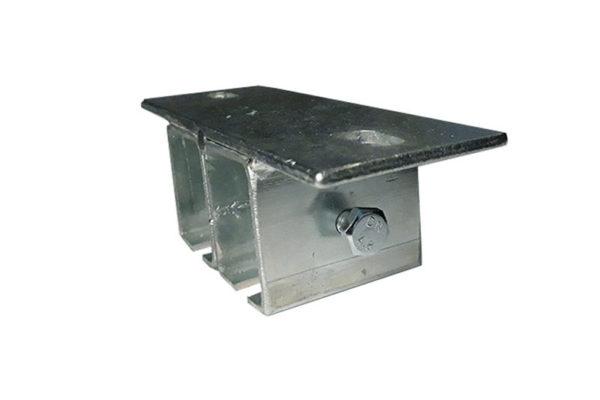 Mocowanie sufitowe do dwóch szyn jezdnych systemu podwieszanego przesuwnego
