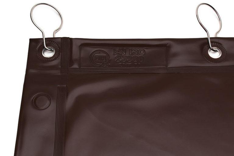 Brązowa zasłona spawalnicza ISO 25980