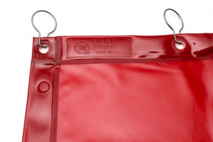 Czerwona zasłona spawalnicza ISO 25980