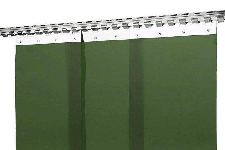 Kurtyna spawalnicza matowa ciemnozielona z pasów PCV 300x2mm