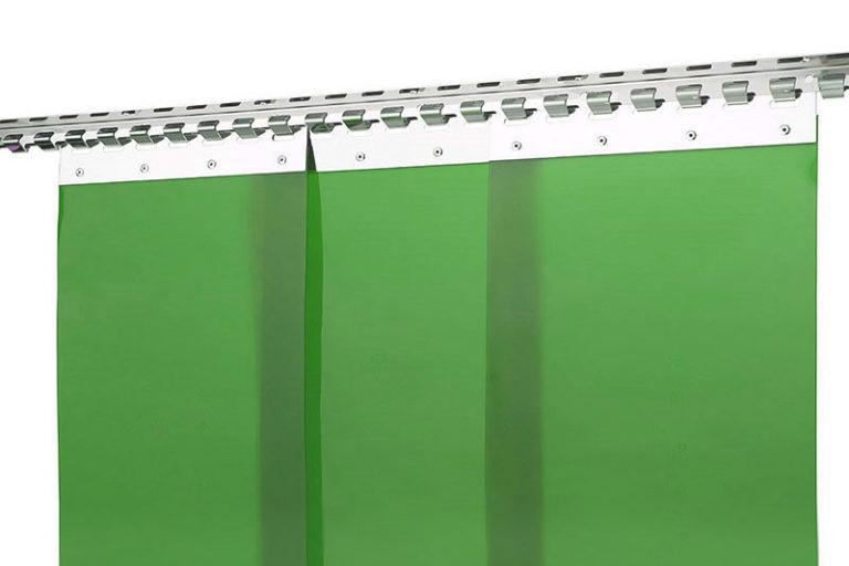 Kurtyna spawalnicza zielona z pasów folii ScreenFlex 300x2mm