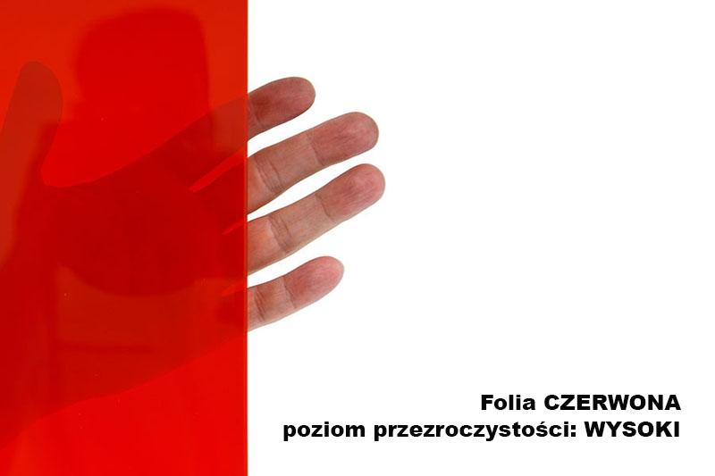 Przezroczystość folii spawalniczej czerwonej w arkuszu szerokości 1.4m