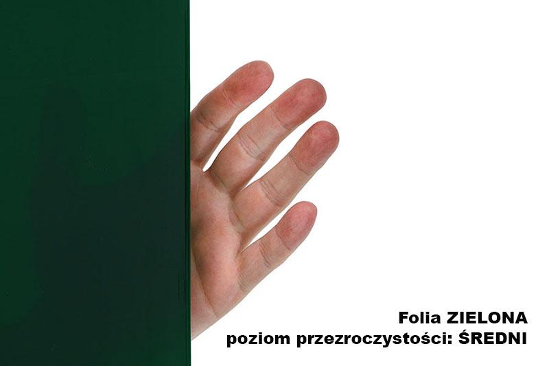 Sedni stopień przezroczystości folii spawalniczej zielonej, arkuszowej