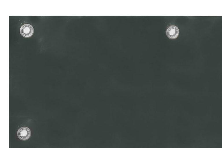 Matowa plandeka spawalnicza z ciemnzielonej, folii PCV o grubości 0,4mm